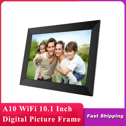 A10 WiFi 10.1 Inch Digital Picture Frame 1280 x 800 IPS Touch Screen 16GB Smart Photo Frame APP Control With Detachable Holder