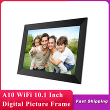 A10 WiFi cornice digitale da 10.1 pollici 1280x800 IPS Touch Screen 16GB Smart Photo Frame APP Control con supporto rimovibile