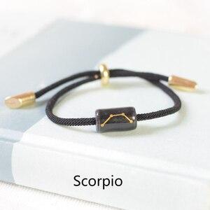 12 Constellation Zodiac Bracelet For Women Men Ceramics Engrave Charm Lucky couple Bracelets Fashion Jewelry Reiki best