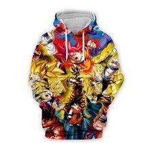 Tessffel Anime Cartoon Dragon Ball Goku Saiyan Tracksuit Colorful Harajuku 3D Print Hoodie/Sweatshirt/Jacket/shirts Men Women A1