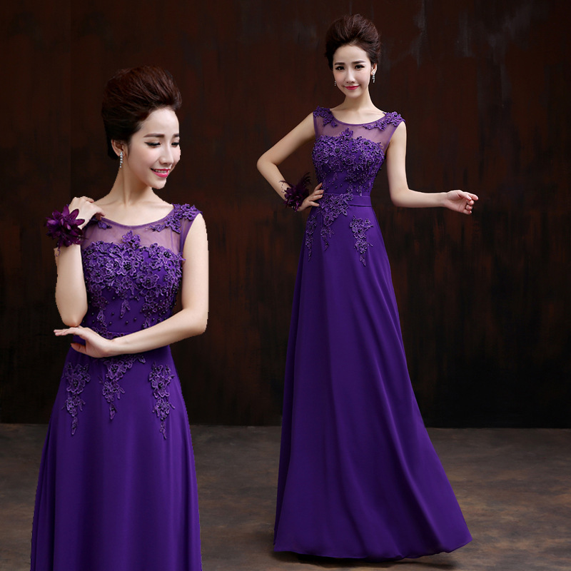 2019 New Style Long Formal Dress For Toast Banquet Late Formal Dress-Style Slim Fit Bride Long Late Formal Dress