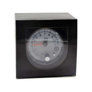 Image 4 - 3.75 Inch Racing Car Tachometer Gauge 7 LED Colors 0 11000 Rpm For 1/2/3/4/5/6/7/8 Cylinder Chrome Shell White Face Meter