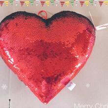 Флип блестящее сердце 40 см w/фарш игрушки мягкая подушка блестящее Сердце Мягкие животные диванная подушка креативные подарки для малышей