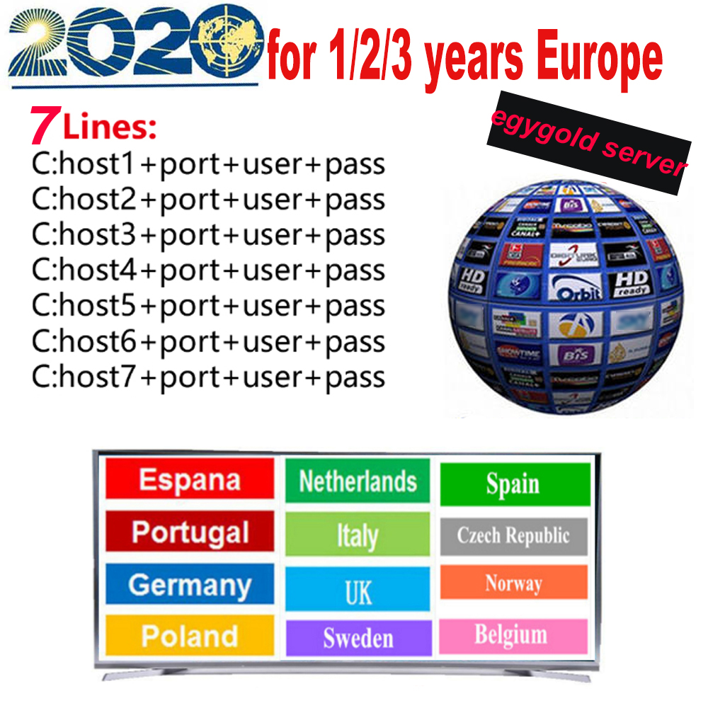 2020 1/2/3 Year 7lines Europe Cccams Lines Server DVBS IKS Receptor Satelite TV Receiver Europe Cccam Oscam Cline Spain Italy DE