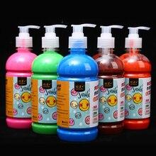 26 Colors Gouache Paint 500ml/Bottle Press Type Washable Pigment For Children Painting Student Practice Art Creation Supplies