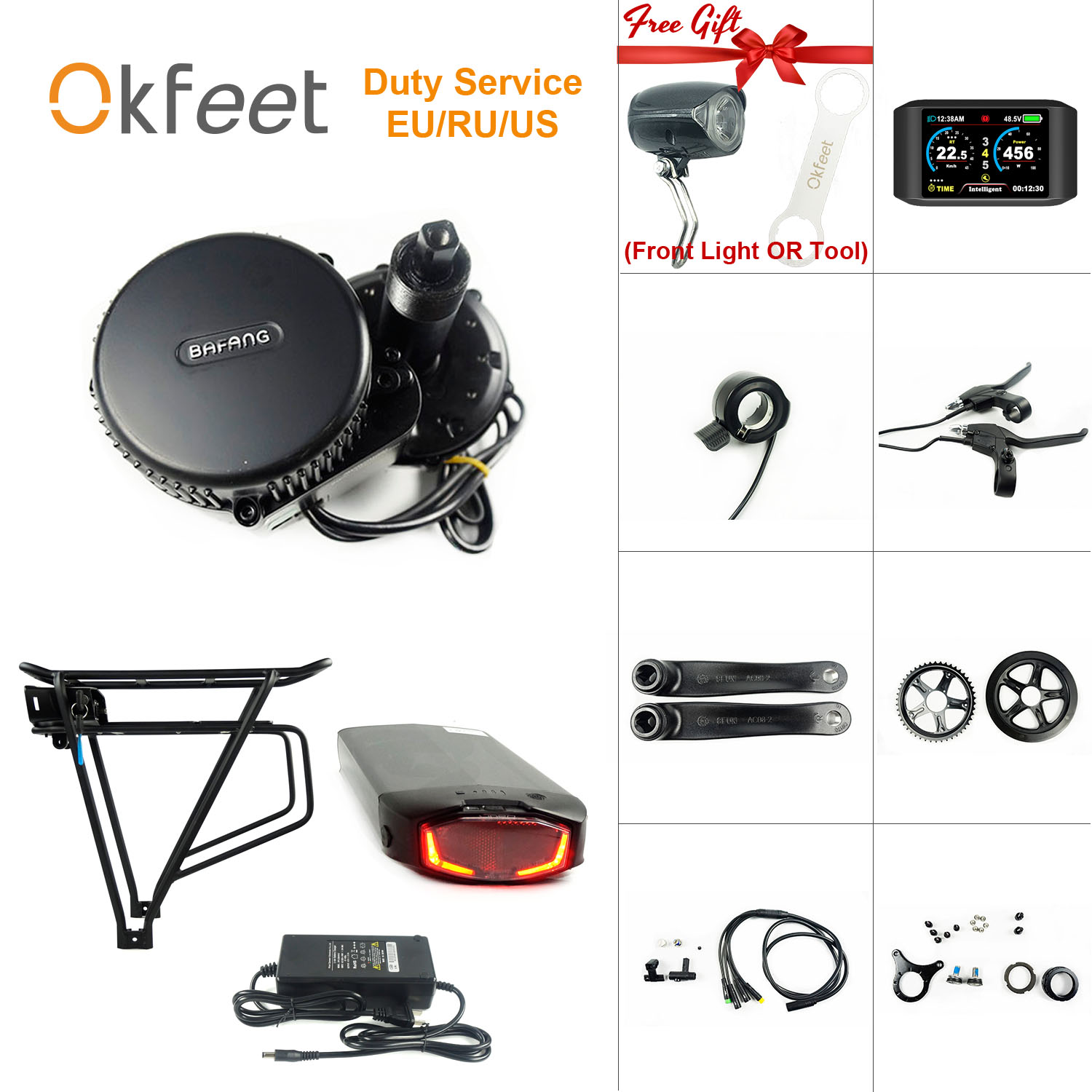 Bafang <font><b>36V</b></font> 250W BBS01 MM G340 Battery Light Mid Drive <font><b>Motor</b></font> Electric Bicycle E Bike Kit image