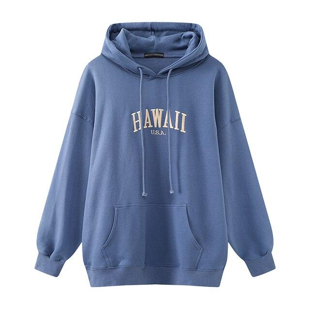 Oversize girls streetwear loose hoodies 2020 autumn fashion ladies stylish cotton hoodie casual female chic pullovers women cute 1