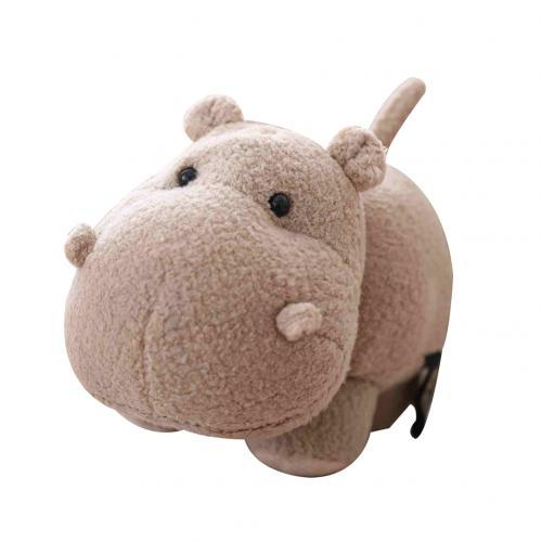 Lovely Big Head Hippo Animal Plush Soft Stuffed Doll Sofa Couch Decor Kids Educational Toys for Children Gift