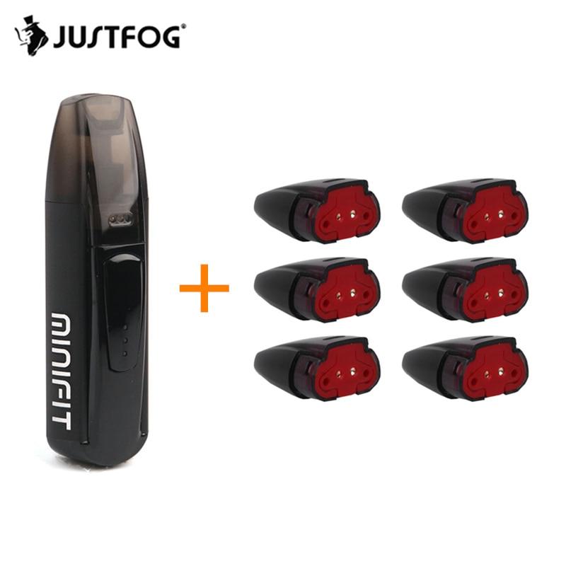 Pod Minifit Vape Kit JUSTFOG Kit Cigarro Eletrônico 370mAh Bateria 1.5ml 1.6ohm Cartucho de Pod Para O CDB E suco VS Kit Caliburn