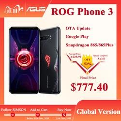 ASUS ROG Phone 3 глобальная версия ZS661KS 5G Смартфон Snapdragon 865/865 плюс OTA rog phone 2 Обновление версии ROG3 Смартфоны