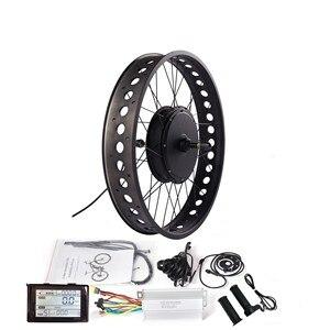 "Image 1 - SW900 디스플레이 250/350/500/750/1000/1500W 허브 모터와 20 ""/24""/26 ""눈 전기 자전거에 대 한 36/48V 지방 전자 자전거 변환 키트"
