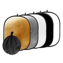 Gosear 5 in 1 แบบพกพาพับ Oval Light Reflector การถ่ายภาพสตูดิโอถ่ายภาพกล้อง Reflector อุปกรณ์เสริม