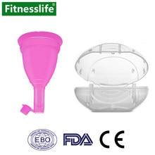 Coupe menstruelle avec décharge, mallette de stockage, étanche, de qualité médicale, en Silicone, réutilisable, hygiène féminine