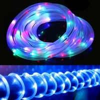 Solar Weihnachten String Lichter Wasserdichte LED Lichterkette Im Freien Hochzeit/Party Garten Dekoration Seil Rohr 12M LED Girlande lampe