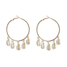 Brinco Pendientes Bohemian Summer Dreamcatcher Natural Shell Tassel Female Ear Ring Earrings Ce563 Cross-border Accessories