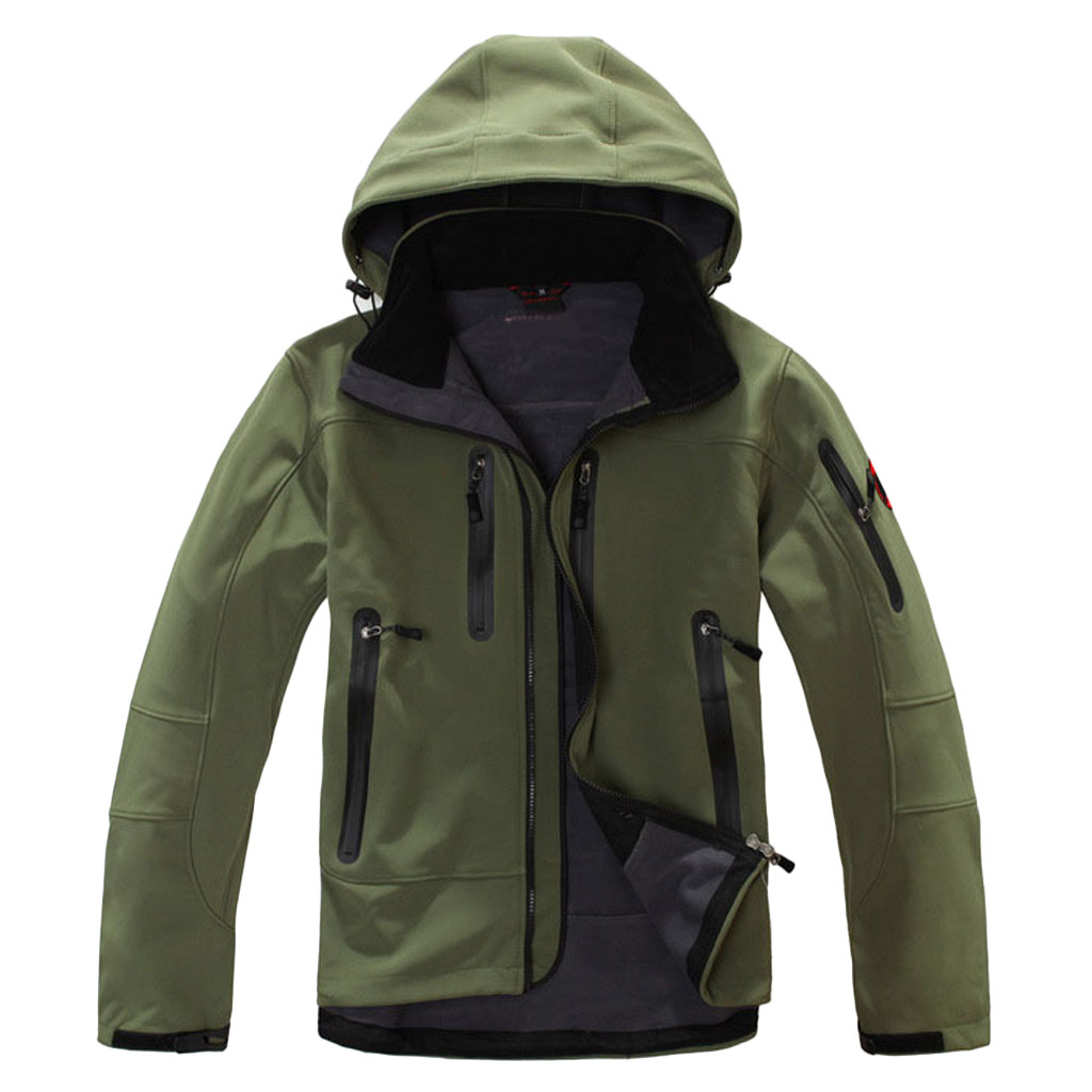 Coat Shell Jacket Hooded-Softshell Outdoor Waterproof Hiking Tactical Winter Camping
