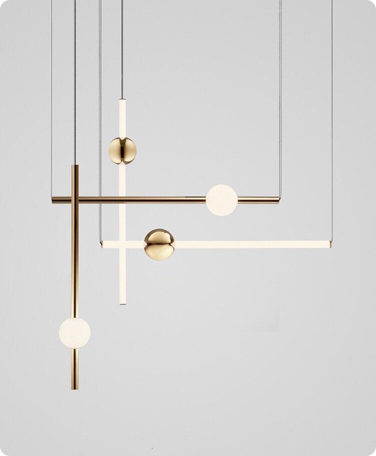 Industrial Chandelier Modern Metal Acrylic Branch Pendant Lamp Light Ceiling Fixtures for Living Room Dining Room Lighting 20 Light Black