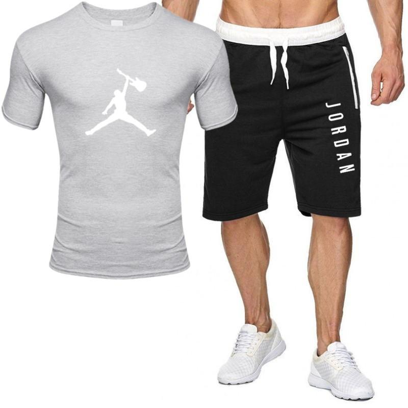 2piece set men outfits jordan 23 t-shirt shorts summer short set tracksuit men sport suit jogging sweatsuit basketball jersey 6