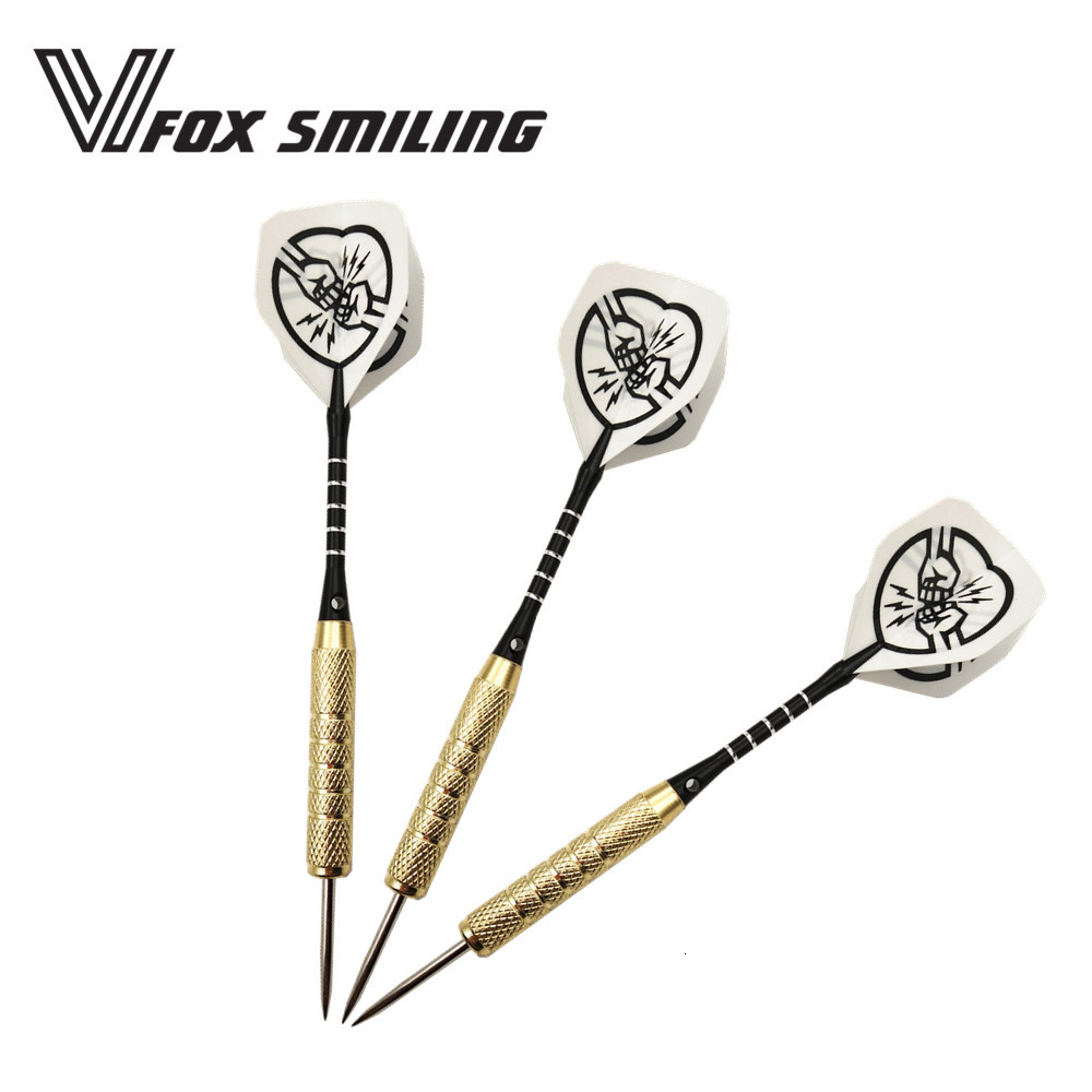 Fox Smiling 3pcs 18g 152mm Professional Steel Tip Darts With Aluminum Darts Shafts With Cool Pattern