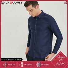 Jack & Jones Brand 2019 NEW 100% Linen slim long sleeves male shirts |217105552