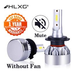 H7 LED H4 H1 9012 HIR2 H8 H3 H11 9007 H13 HB4 HB3 12000LM Car Headlight Bulbs Auto Lamp 6500K Fog Lights Fanless Nebbia 12V HLXG