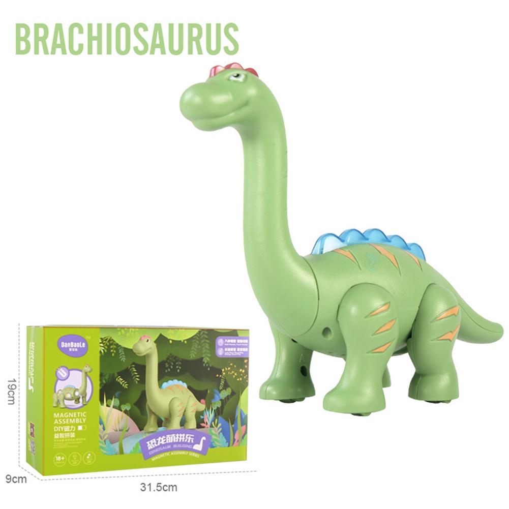 Children Dinosaur Toy Magnetic Puzzle With Light Sound Lifelike Simulation Pterosaur Tyrannosaurus Ceratosaurus Doll