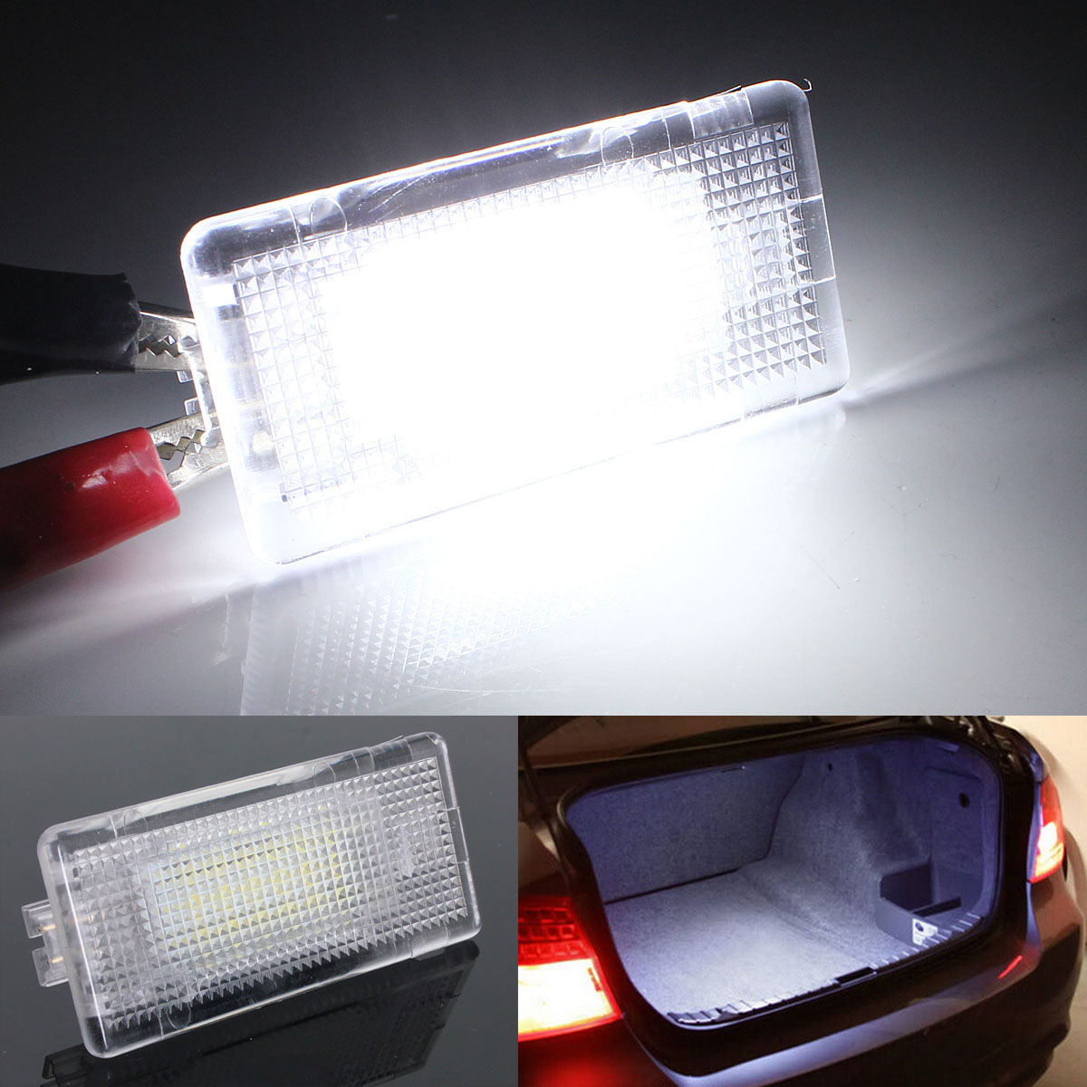 1x 12V Footwell Luggage Trunk Boot Glove Box LED Light For BMW E36 E38 E39 E46 E60 E60 E61 E65 E66 E82 E88 E90 E90 E91 E92 E93