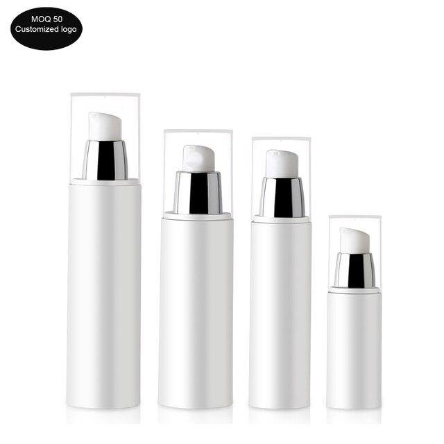 50 unids/lote 30ml 50ml 80ml 100ml PP botella portátil de viaje sin aire botella con bomba de vacío loción botella utilizada para cosméticos de alta calidad