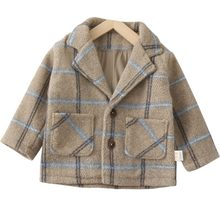 Baby Jacket Plus Cotton Woolen Jacket Children's 1-4-Year-Old Woolen Jacket Autumn and Winter(China)