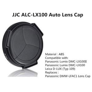 Image 5 - JJC automatyczna osłona obiektywu do Panasonic LUMIX DMC LX100 DMC LX100II LEICA D LUX (Typ 109) D LUX7 jako DMW LFAC1 osłona przeciwsłoneczna