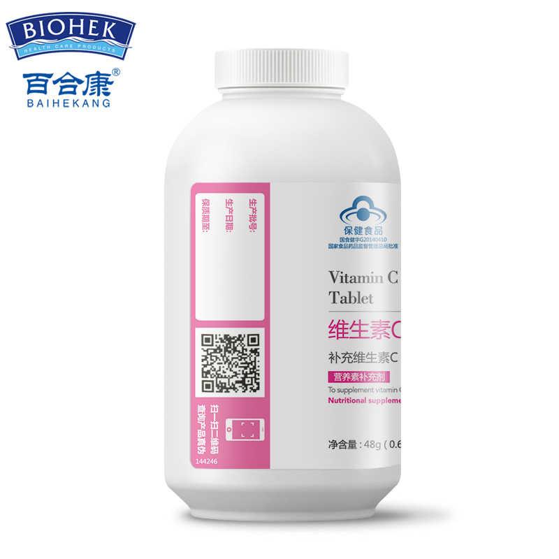 Yenilebilir Vitamin C VE Vitamin E Tablet VC VE besin takviyeleri cilt bakımı nemlendirici beyazlatıcı Anti-Aging