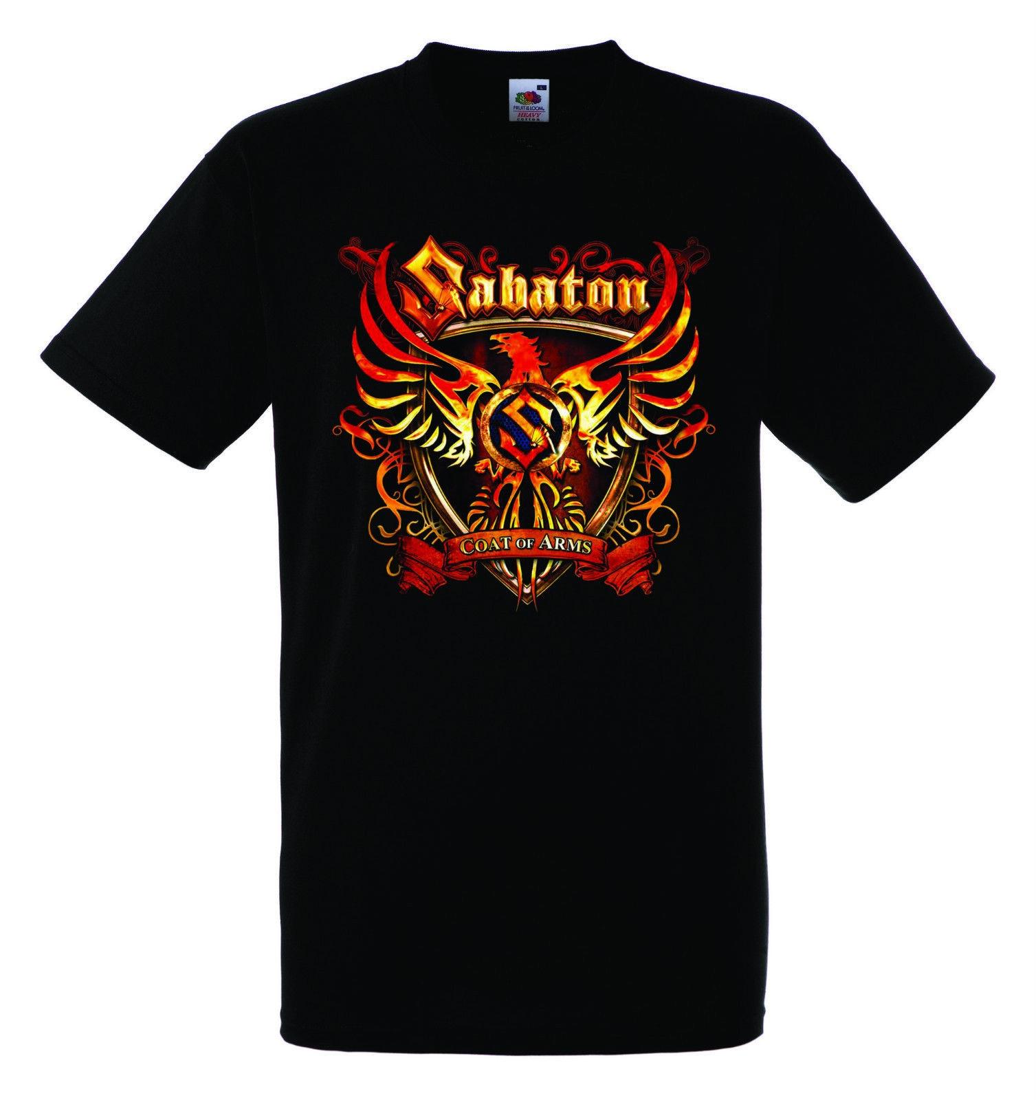 New SABATON Power Metal Band Logo Men/'s Black T-Shirt Size S-3XL Free Shipping