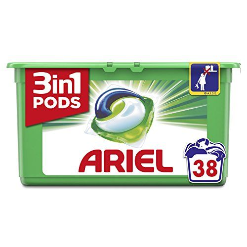 Ariel 3 in1 Pods Regular Detergent In Capsules – 38 Washes [Pack Of 3] (Total Of 114 Washes)