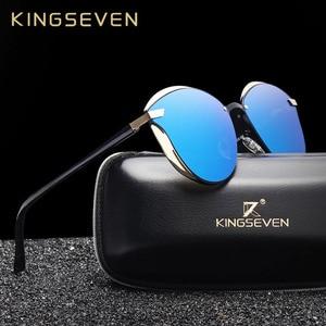 KINGSEVEN Cat Eye Sunglasses Women Polarized Fashion Ladies Sun Glasses Female Vintage Shades Oculos de sol Feminino UV400(China)