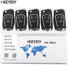 5 pces, chave remota universal multi funcional para kd900 kd900 + urg200 nb series, keydiy nb22 (todas as funções chips em uma chave)
