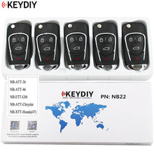 5PCS, Multi functional Universal Remote Key for KD900 KD900+ URG200 NB Series ,KEYDIY NB22 (all functions Chips in one key)
