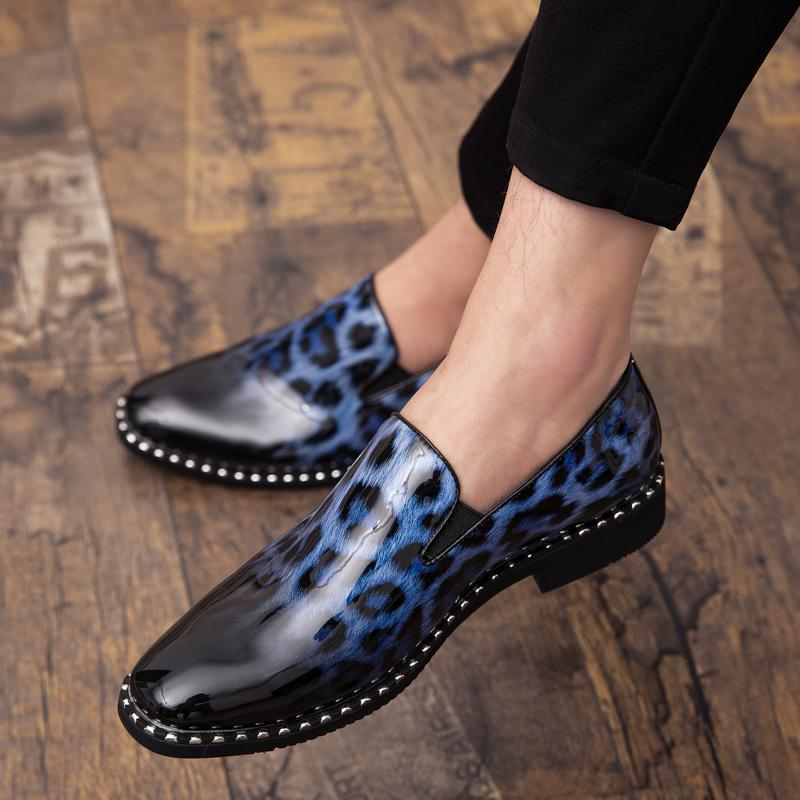 mens leopard print dress shoes