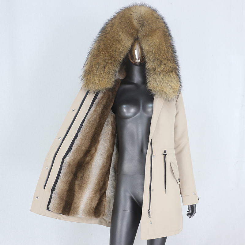 Hbdc2641dd37d41929d2433d88a5bf6e9d CXFS 2021 New Long Waterproof Parka Winter Jacket Women Real Fur Coat Natural Raccoon Fur Hood Thick Warm Streetwear Removable