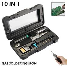 10 w 1 samozapłon bezprzewodowy zestaw bezprzewodowych palników do spawania gazowego narzędzie zapłon na butan palnik do Solde Torch Pen
