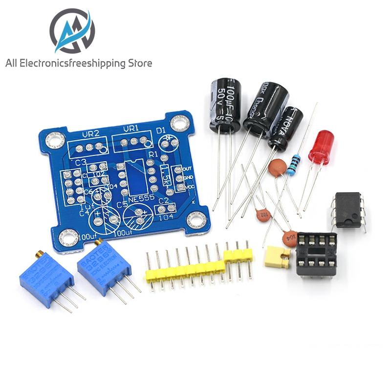 NE555 Pulse Generator Pulse Starter Duty Cycle And Frequency Adjustable Module DIY Kit Oscillator Square Wave Signal Generator