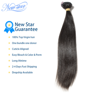 Image 4 - Brazilian Virgin Human Hair Straight Style Extension 3 Bundles Deal 100%Unprocessed Intact Cuticle New Star Long Hair Weaving