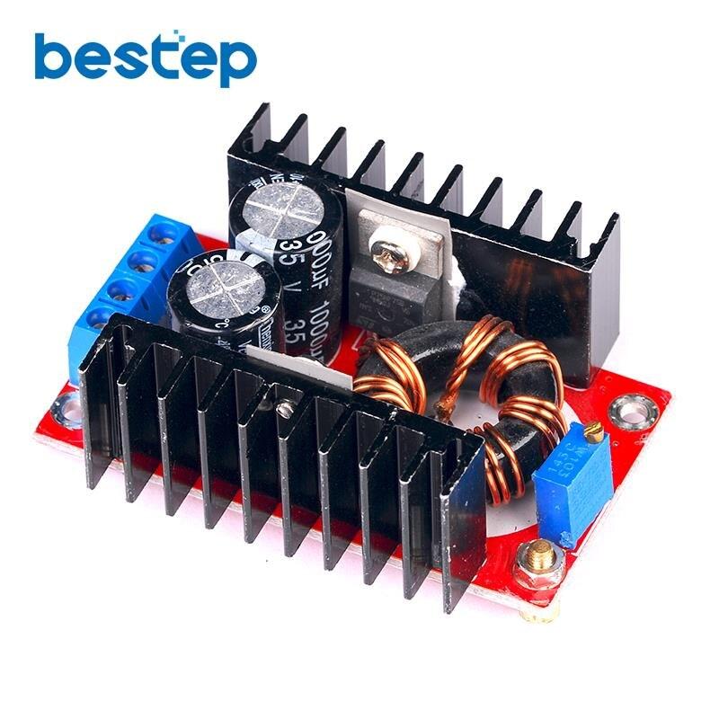 150W Boost-wandler DC zu DC 10-32V zu 12-35V Step Up Voltage Ladegerät modul