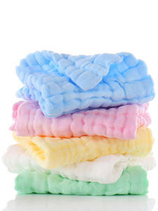 Baby Towels Handkerchief Muslin 100%Cotton Square Water-Washing 5pcs/Set 30--30cm 6layers