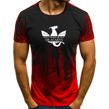 Game of Thrones Printed T Shirt Men Short Sleeves Camouflage Tops Plus Size S-4XL