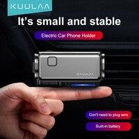 KUULAA-Soporte de teléfono eléctrico inteligente para coche, sujeción con Clip para ventilación de aire, inducción automática