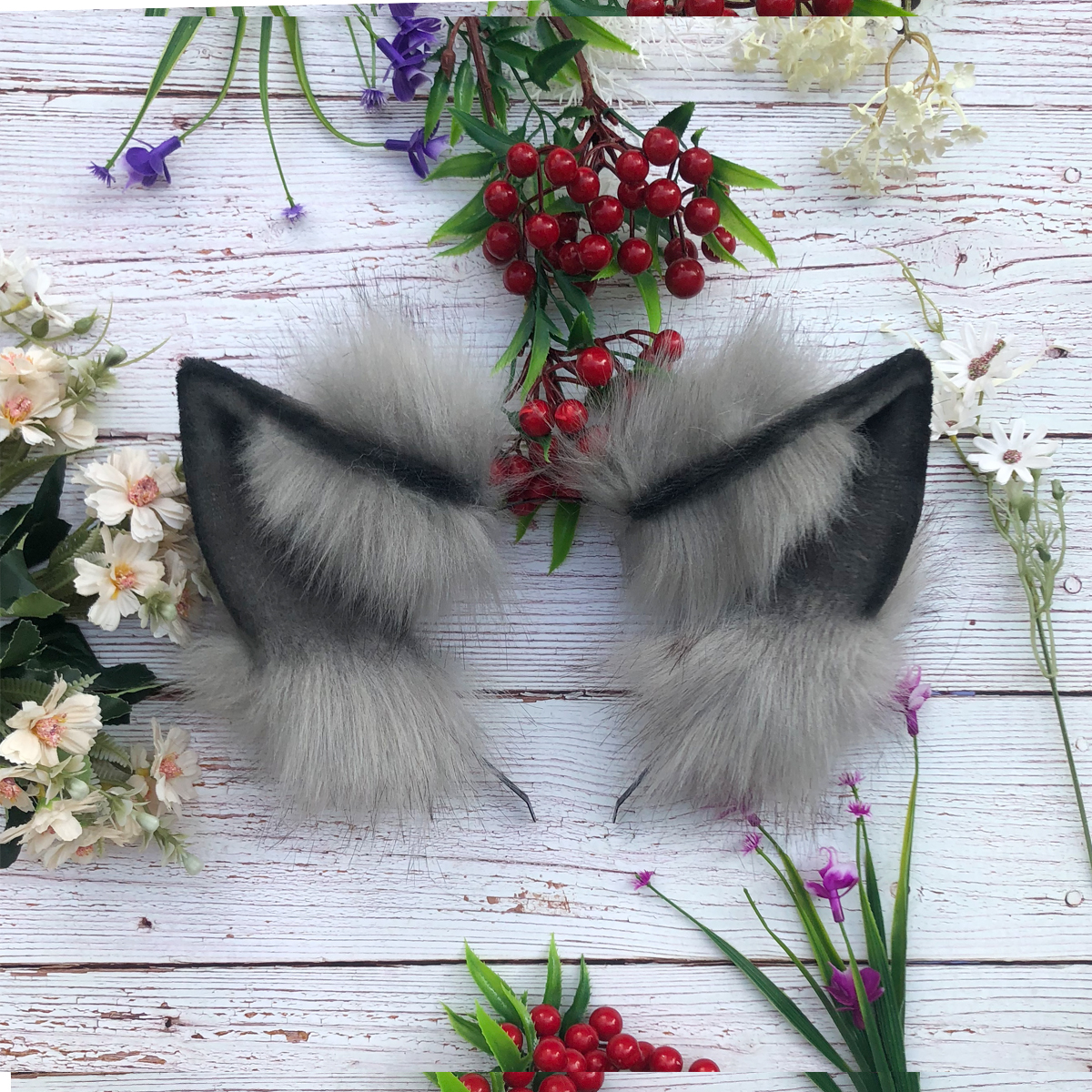 New Hand Work Animal Black Brown Yellow Color Wolf Wolves Ears Hairhoop Headwear Lolita Cosplay Game Party Costume Accessories