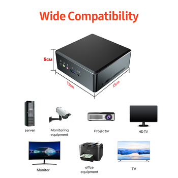 T-bao MN27 Metal Mini PC with AMD Ryzen 7 2700U CPU 16GB RAM 512GB M.2 NVNE SSD Radeon Vega 10 Graphics for Home Office 2