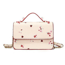 Bags For Women 2019 Simple Pink Printed Shoulder Bag PU Leather Luxury Handbags Trendy Casual Messenger Small Square Bag trendy pu leather square neck overall dress for women