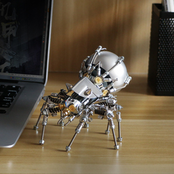 MECHANICAL PARTY Metal Spider 3D Wireless Bluetooth Speaker Mecha model DIY assembly Music Player Desktop Audio
