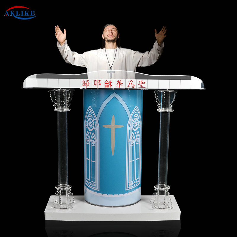 Grand Displays Deluxe Acrylic AKLIKE Plexiglass Podium Pulpitcolumn Church Podium Event Wedding Prayer Pulpit Priest Lectern